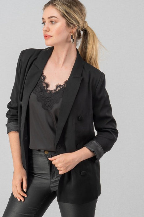 LOVE NOT LOGIC BLACK BLAZER