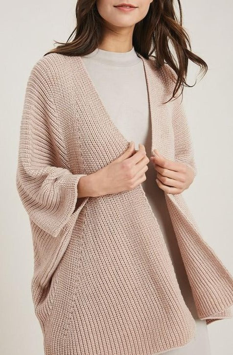feeling fresh taupe batwing cardigan