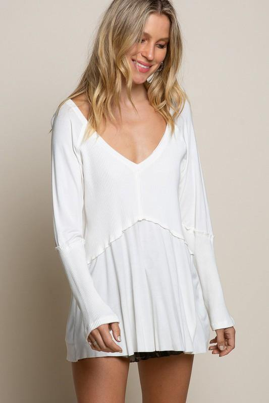 GET OBSESSED DETAILED TOP - IVORY