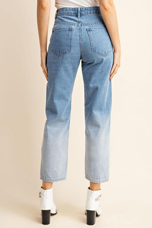 ASK ME AGAIN OMBRE DENIM JEANS
