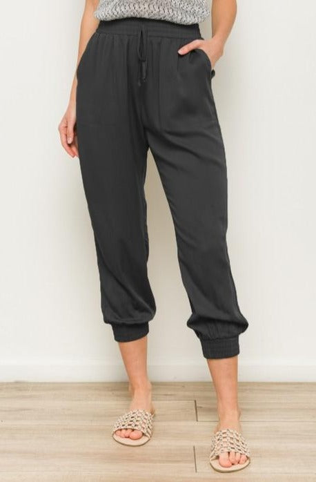 THE HYPE BLACK DRAWSTRING PANTS