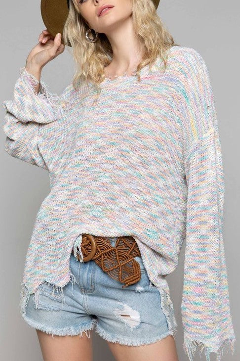PICK OF THE FIELD RAINBOW CONFETTI SWEATER