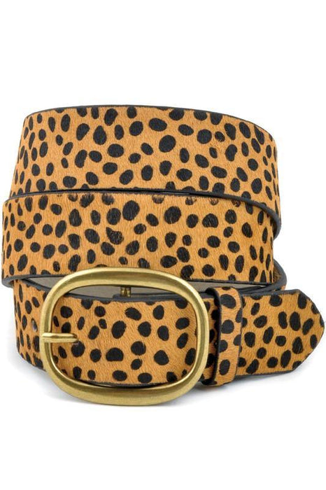 ANYWAY ANYWHERE COW HAIR CHEETAH BELT