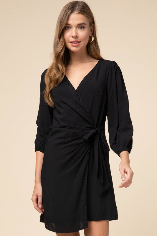 WHOLE TRUTH WRAP DRESS