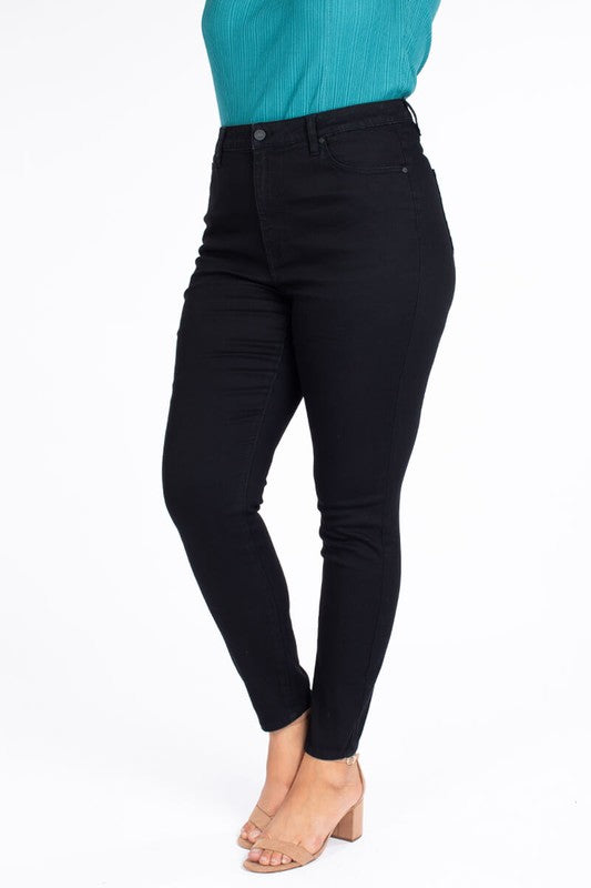 CURVY KANCAN DENIM DREAMS BLACK SKINNY JEANS