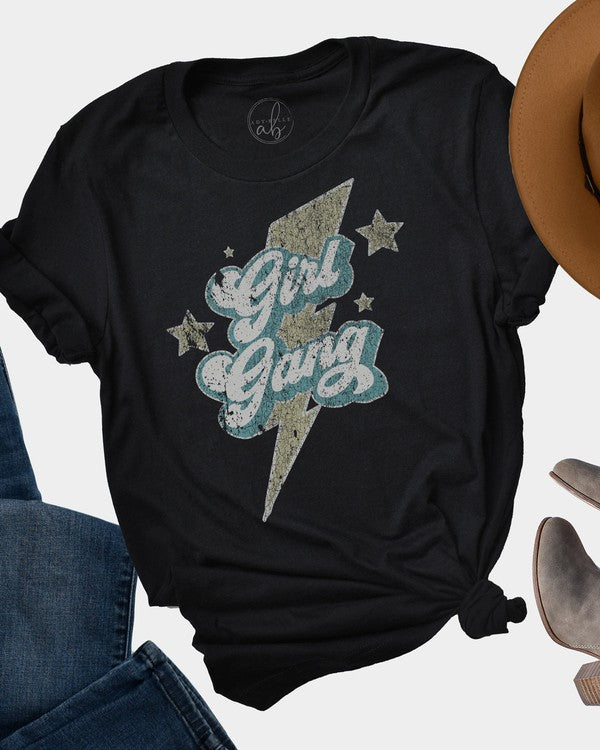 GIRL GANG LIGHTNING GRAPHIC TEE