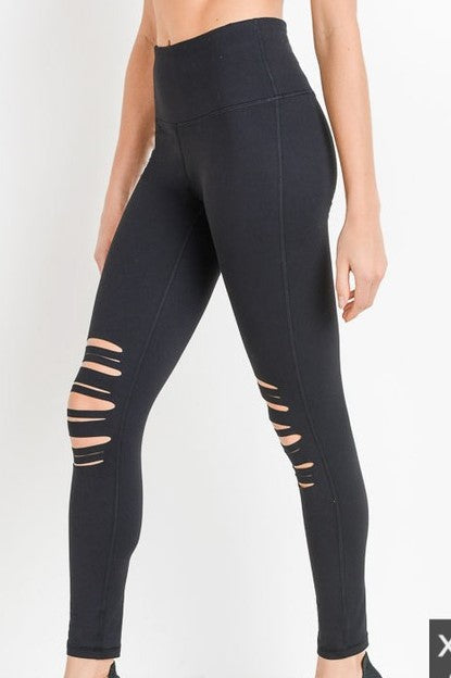 NOTHING ABOUT IT SHREDDED LEGGINGS