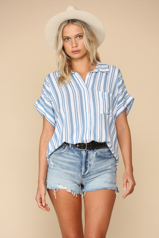 TAKE ME AWAY BUTTON DOWN TOP