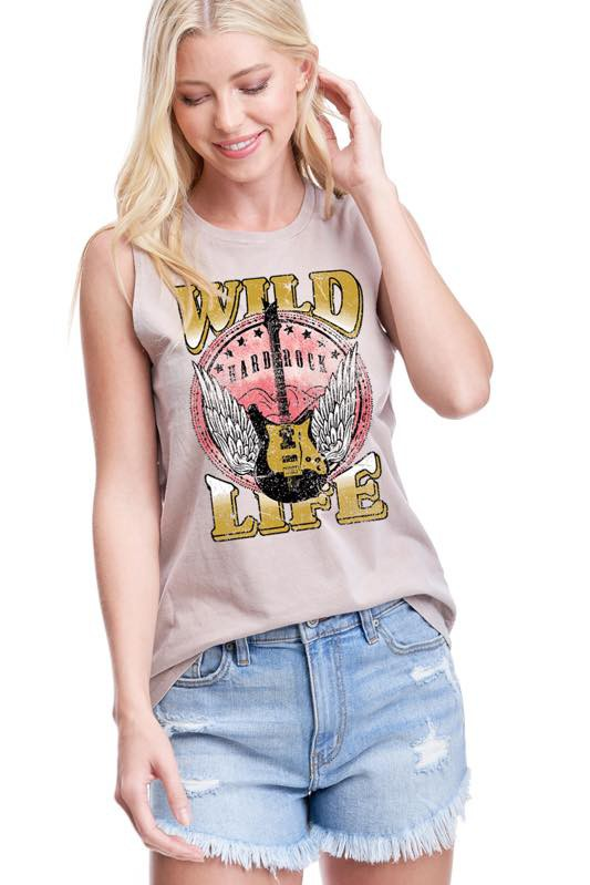 WILD LIFE GRAPHIC TANK TOP