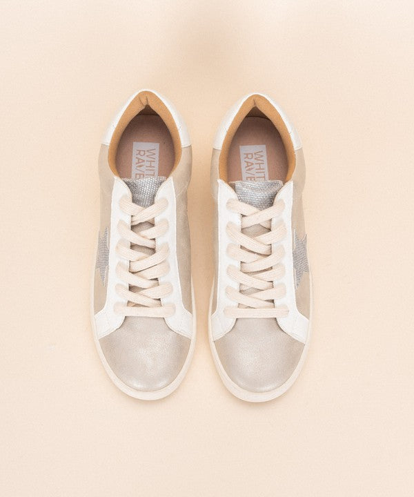 METALLIC LOVER WHITE RAVEN SNEAKER