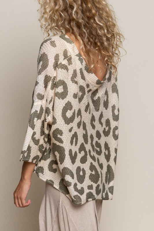 DON'T LET ME DOWN LEOPARD LIGHT SWEATER