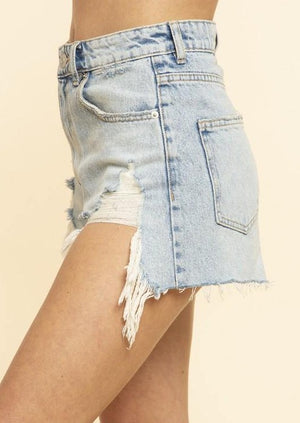 Load image into Gallery viewer, Nights in Fort Worth Shorts | Denim blue - shopbellabird
