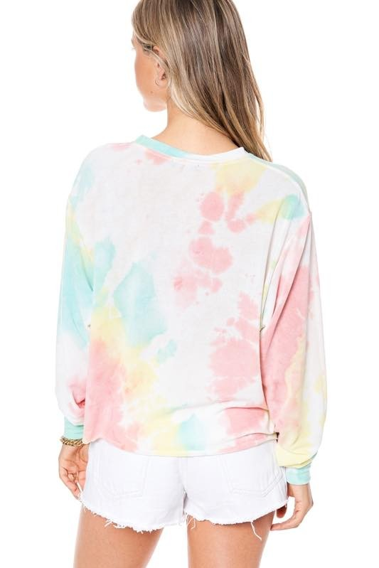 DREAM ON DREAMER TIE DYE TOP