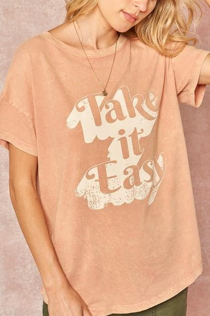 TAKE IT EASY FALL TEE