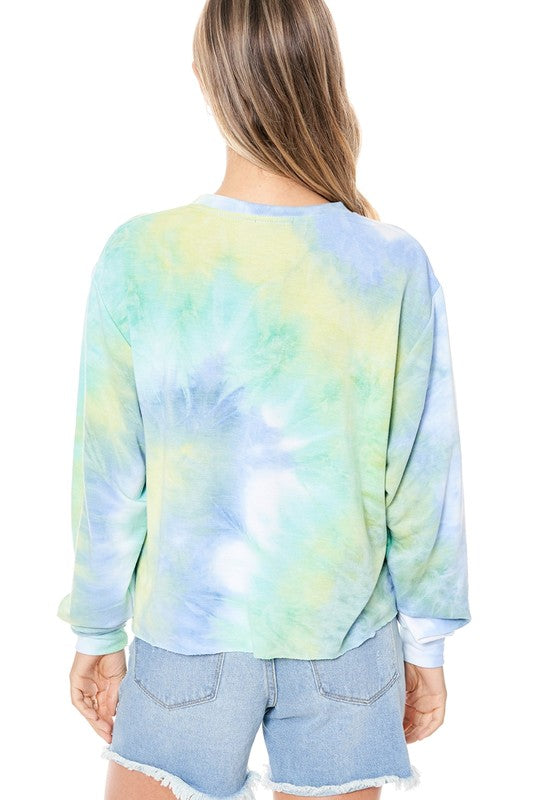 THAT'S HOW WE ROCK TIE DYE TOP