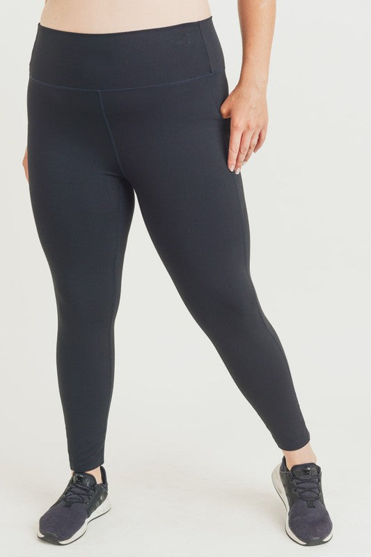 CURVY FEEL THE PERFECTION BLACK LEGGING