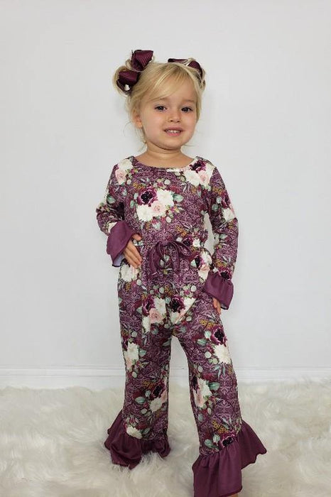 BIRDIES FALL SWEETIE MAROON ROMPER