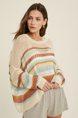 Love On Time Sweater | Mint\Rust