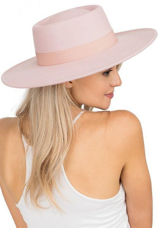The Bolero Felt Hat | Powder Pink - shopbellabird