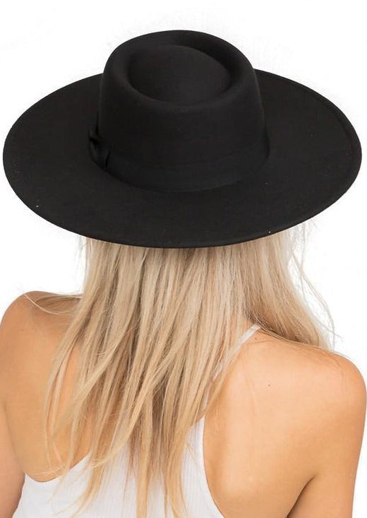 The Bolero Felt Hat | Black - shopbellabird