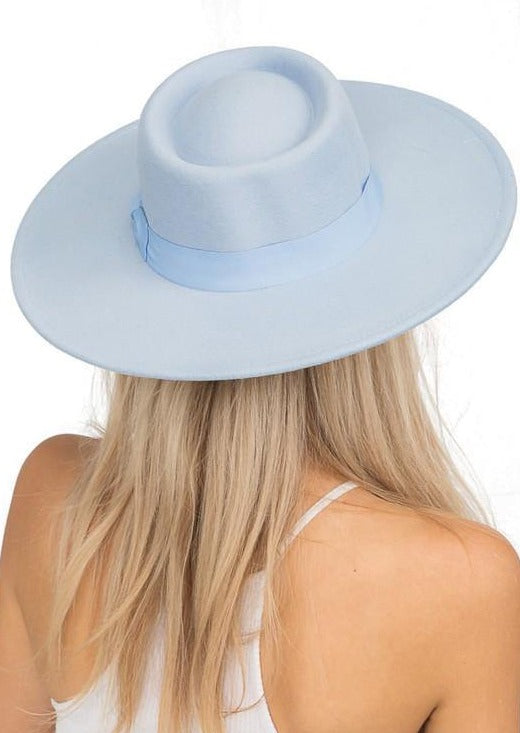 The Bolero Felt Hat | Powder Blue - shopbellabird