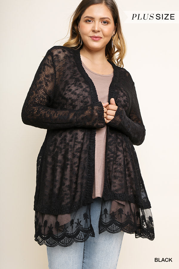 PLUS MORE THAN POSSIBLE LACE CARDI