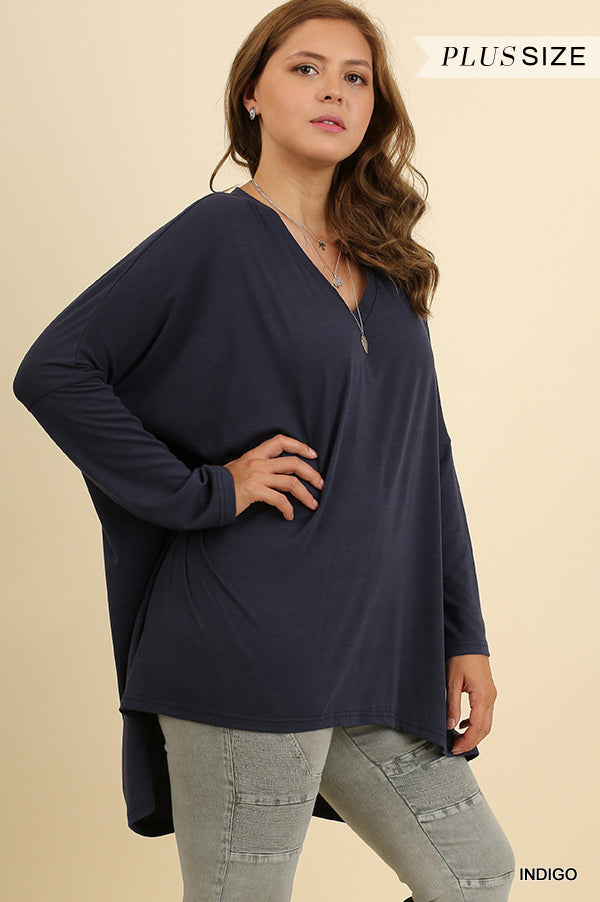 PLUS REQUEST MORE INDIGO TOP