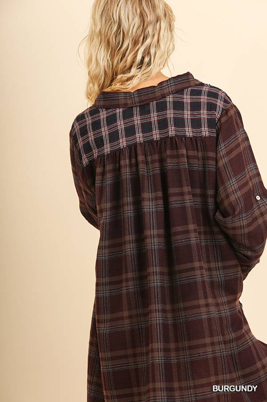 BONFIRE BABE PLAID DRESS