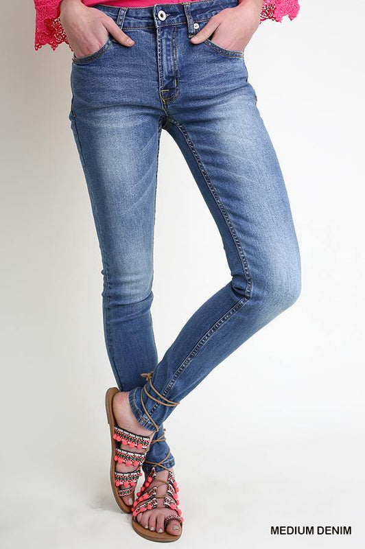 ALONG FOR THE RIDE DENIM SKINNY JEANS