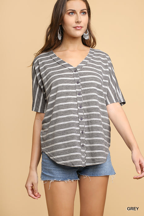 HOPE FOR SOMETHING STRIPE TOP