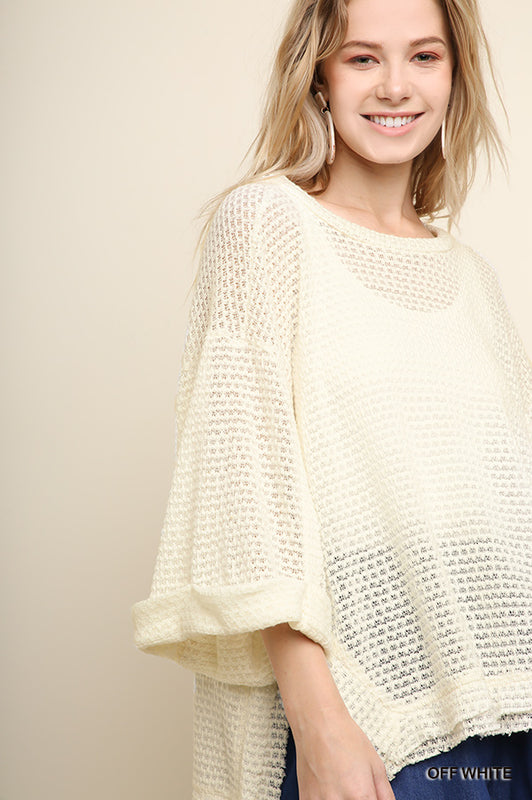 SATURDAY WAFFLES KNIT TOP