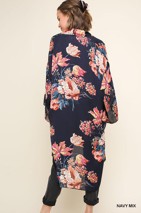 DON'T FALL FOR IT FLORAL KIMONO