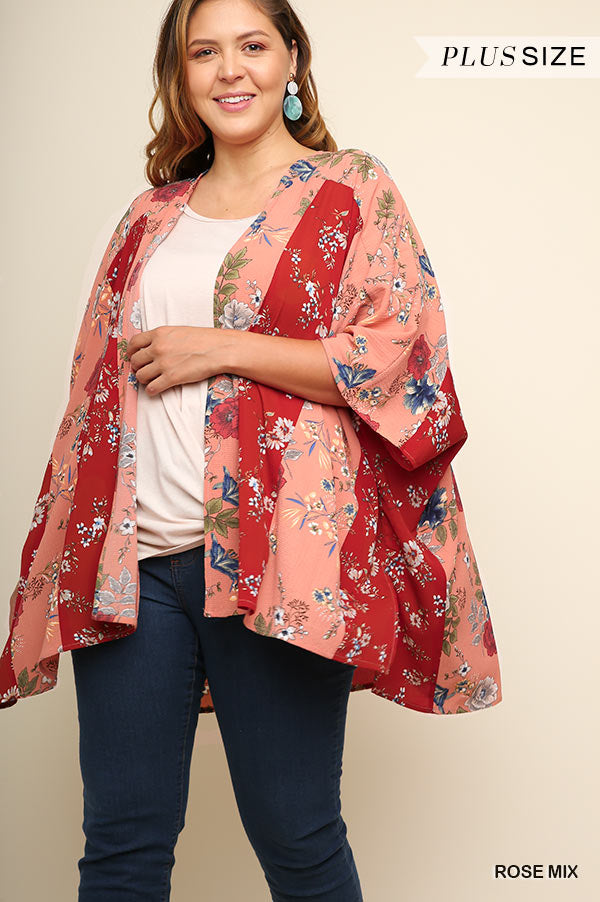 PLUS NEVER LEAVING THE GARDEN FLORAL KIMONO