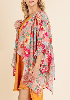 Got The Love Floral Kimono | Flamingo Mix