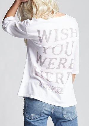 Recycled Karma Wish You Were Here Pink Floyd Tee | White