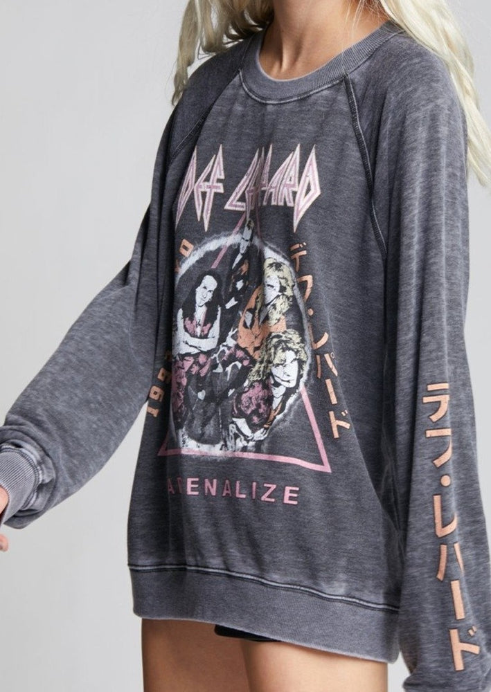 Load image into Gallery viewer, Recycled Karma Def Leppard Adrenalize Sweatshirt | Grey