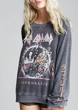 Recycled Karma Def Leppard Adrenalize Sweatshirt | Grey