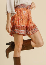 The Other Side Of Wester Floral Shorts | Tangerine