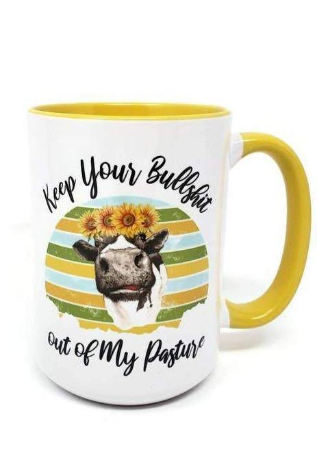 NO BS COW COFFEE MUG