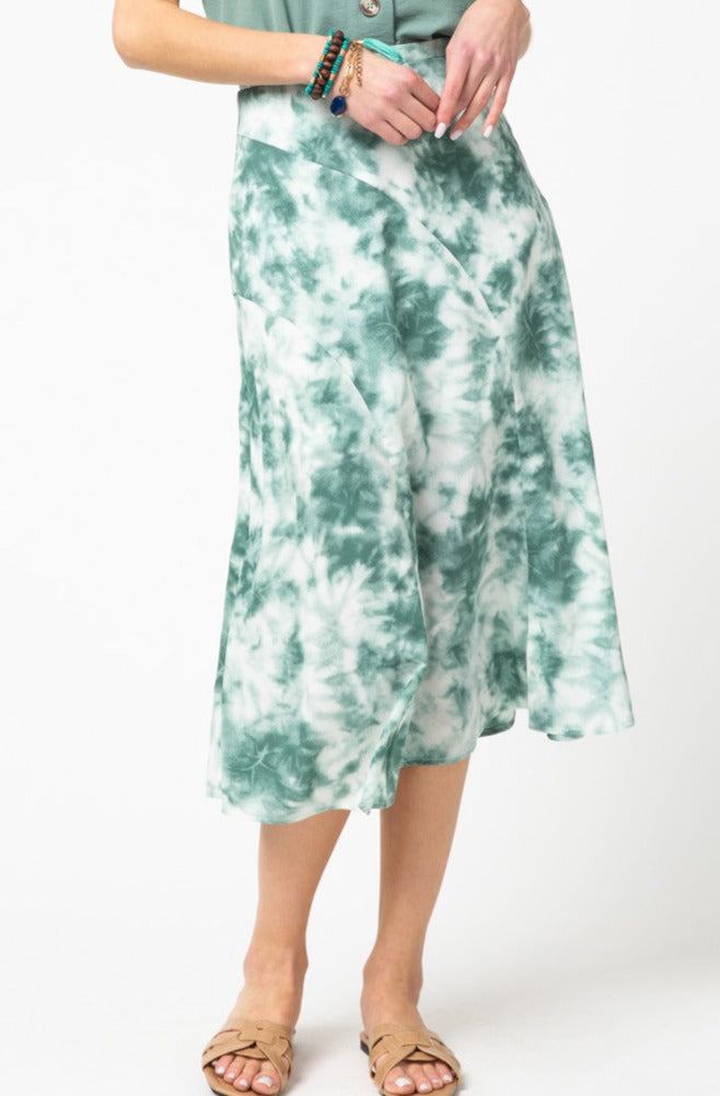 OASIS WATERS TIE DYE SKIRT