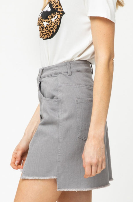 SLATED GREY SKIRT