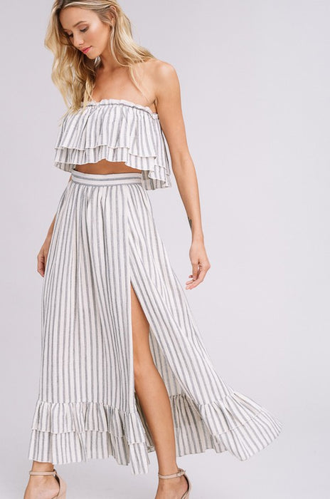 UNDER MY SPELL STRIPE WOVEN 2PC
