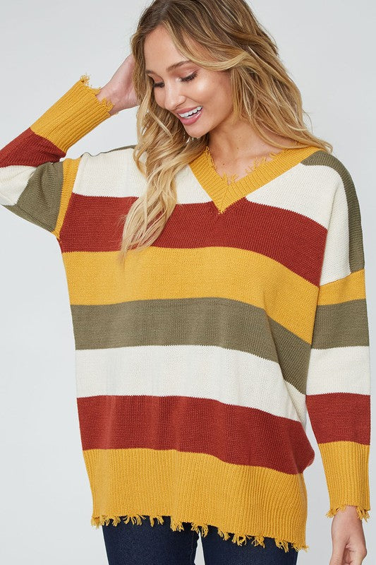 EVERY WHICH WAY STRIPE SWEATER