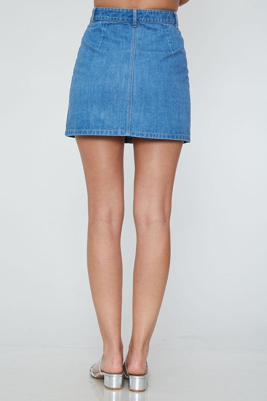 TAKE SOME TIME DENIM SKIRT