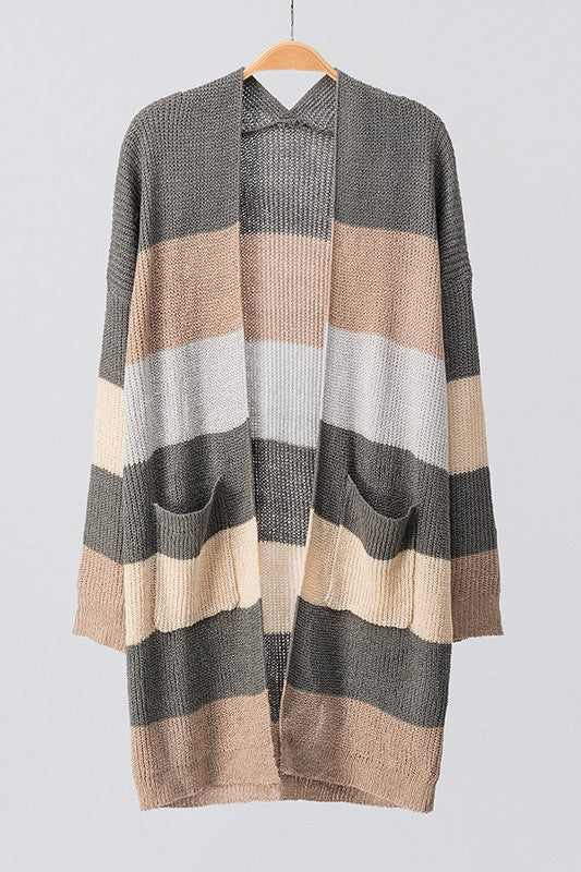 KIT KAT STRIPE CARDIGAN