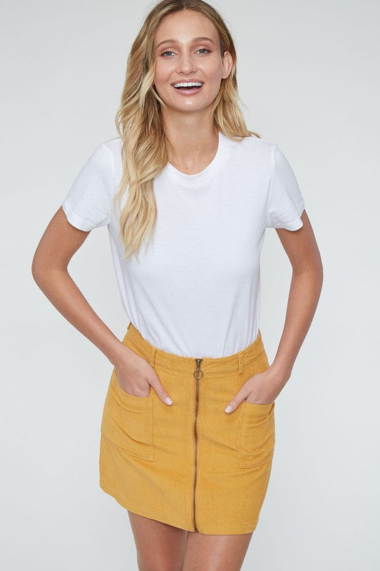 UP YOUR SCALE MUSTARD SKIRT