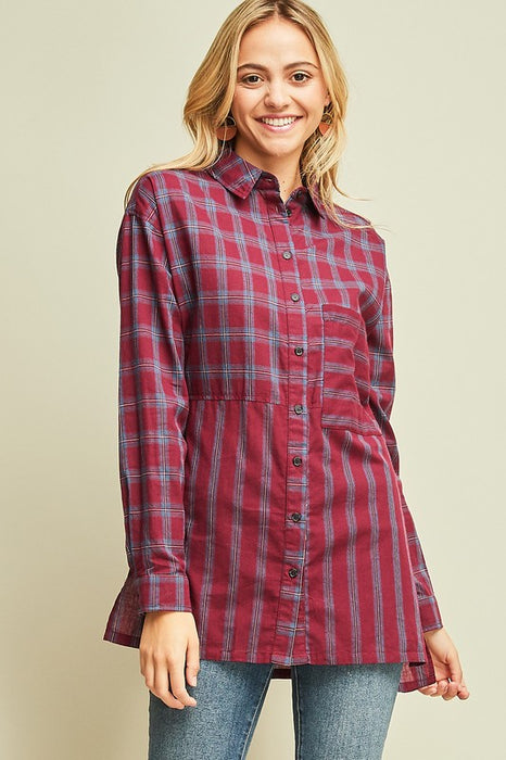 CHASE THE SUN RED PLAID