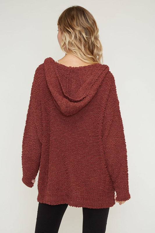 COZY WALKS IN THE PARK HOODED SWEATER