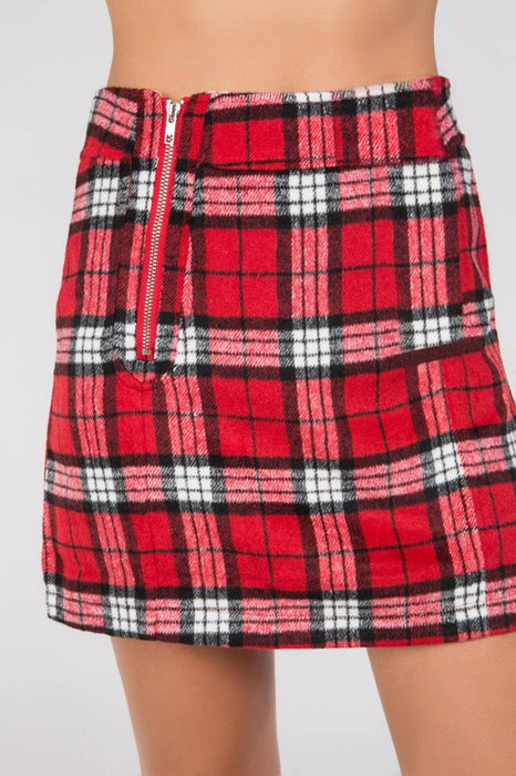 DEAR SANTA PLAID SKIRT