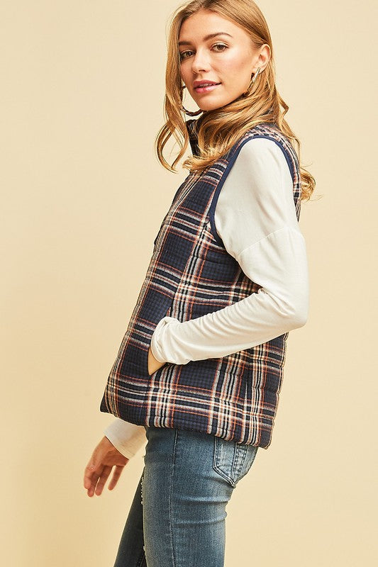 PUMPKIN PATCH PLAID VEST